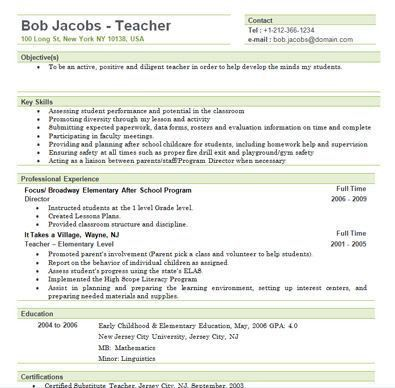 12 best Job Stuff images on Pinterest | Resume ideas, Teacher ...