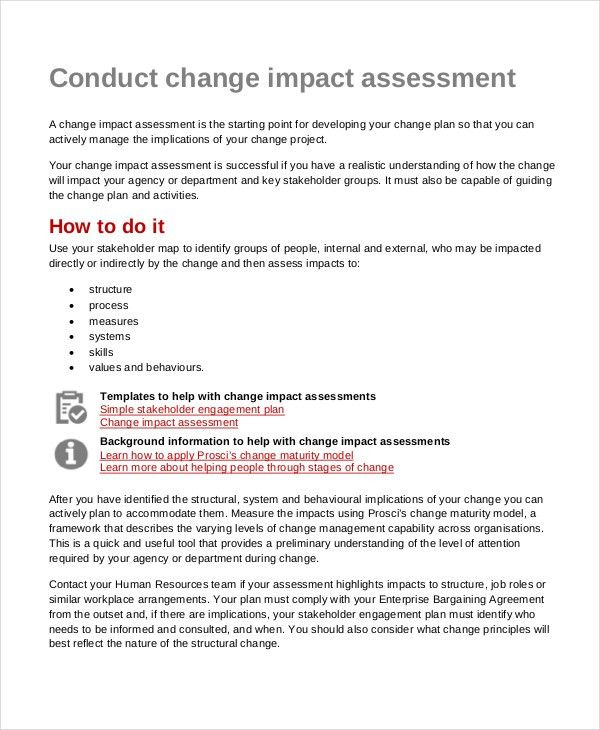Impact Assessment Template - 6+ Free Word, PDF Documents Download ...