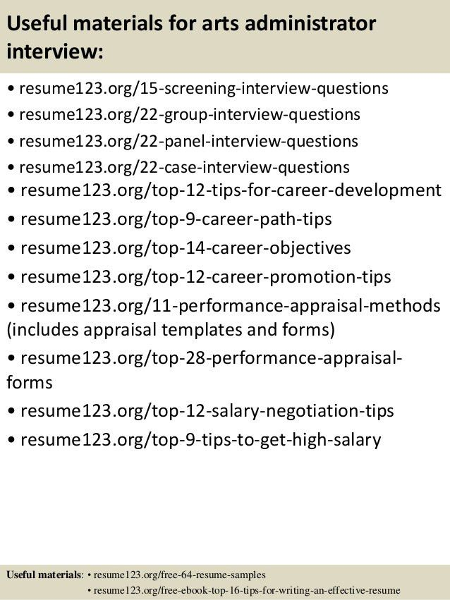 Arts Administration Sample Resume 20 Art Resume Sample Art ...