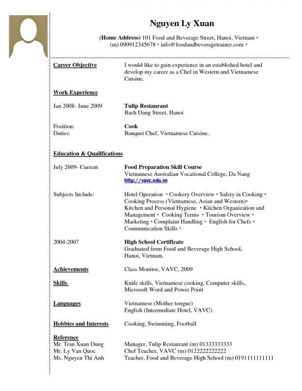 Resume : Different Career Objectives Kitchen Hand Resume ...