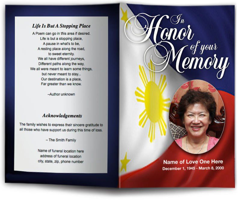 Patriotic Military Funeral Templates & Programs