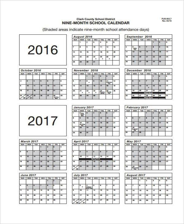 8+ Attendance Calendar Templates -Free Sample, Example Format ...