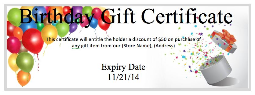 Gift Coupon Templates | Sales Templates