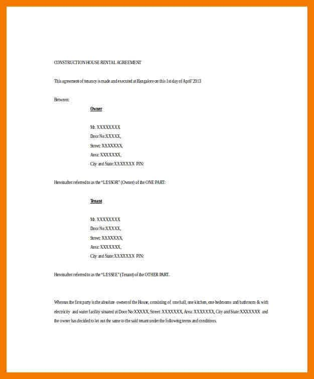 Basic Rental Agreement. Commercial Land Lease Agreement Template1 ...