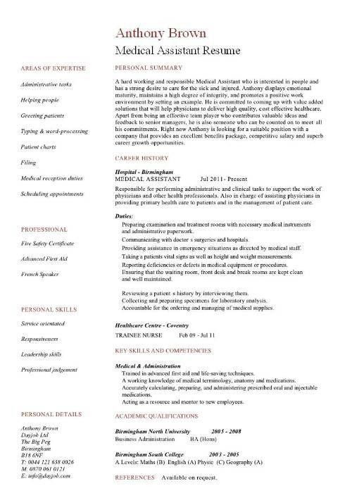 10 Best Images of Medical Assistant Student Resume Templates ...