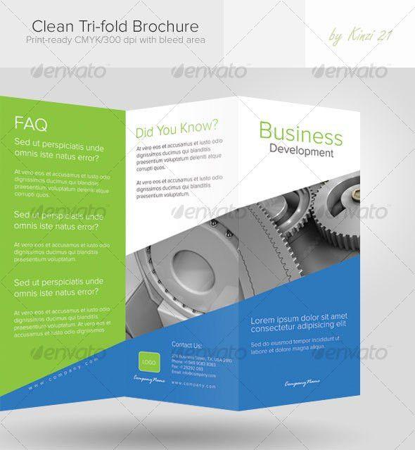 15 Coporate Tri Fold Brochure Templates | Wakaboom