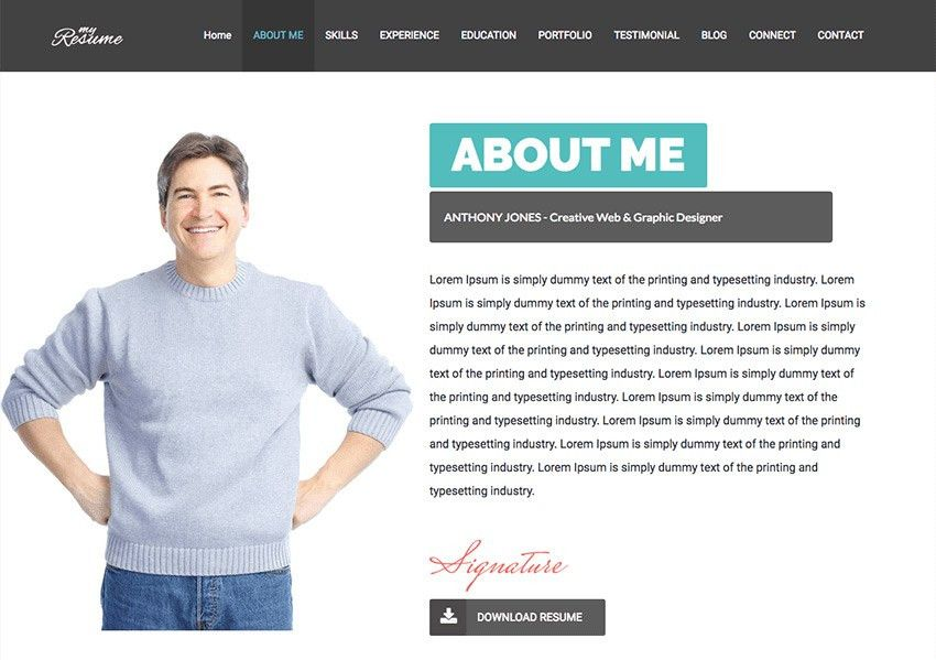 Homely Design Web Resume 6 Sample Resume Website Forte One Page ...