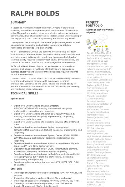 Senior Consultant Resume samples - VisualCV resume samples database