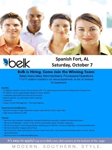 Belk Job Fair - Spanish Fort - Oct 7, 2017 - Events Calendar ...