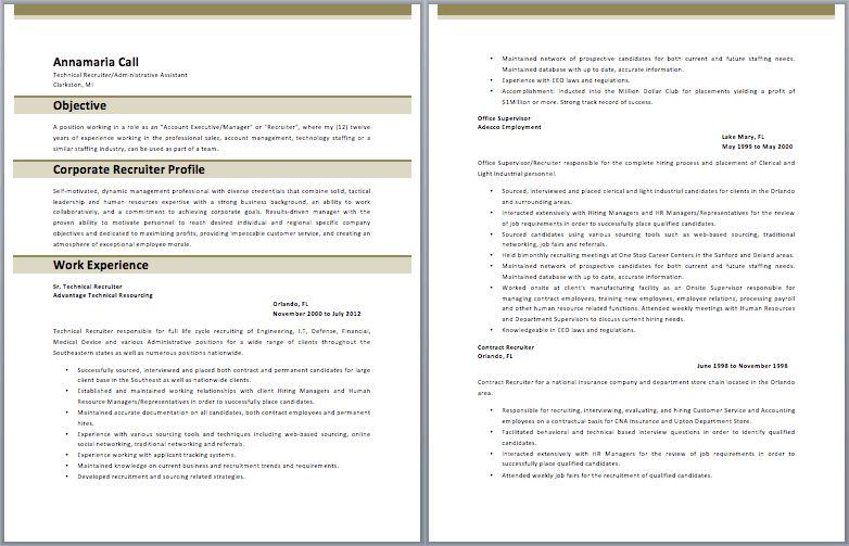 Download Bilingual Recruiter Resume   haadyaooverbayresort.com