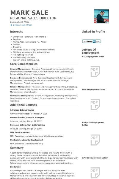 Sales Director Resume samples - VisualCV resume samples database