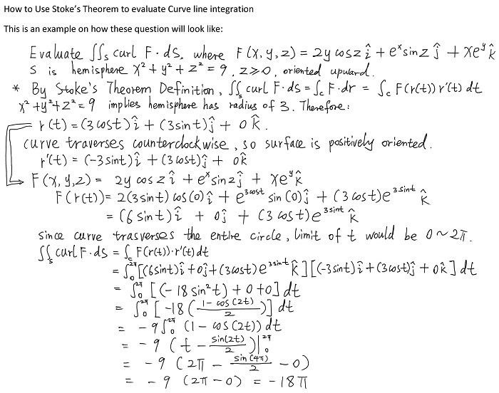 How to Use Stoke's Theorem to evaluate Curve line integration
