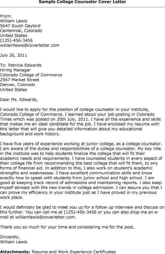 Sample Cover Letter For Academic Advisor Job | Docoments Ojazlink