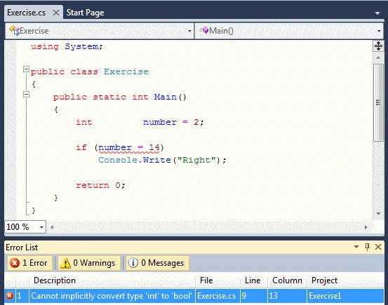 C# Errors & Exceptions: Introduction to Errors and Debugging