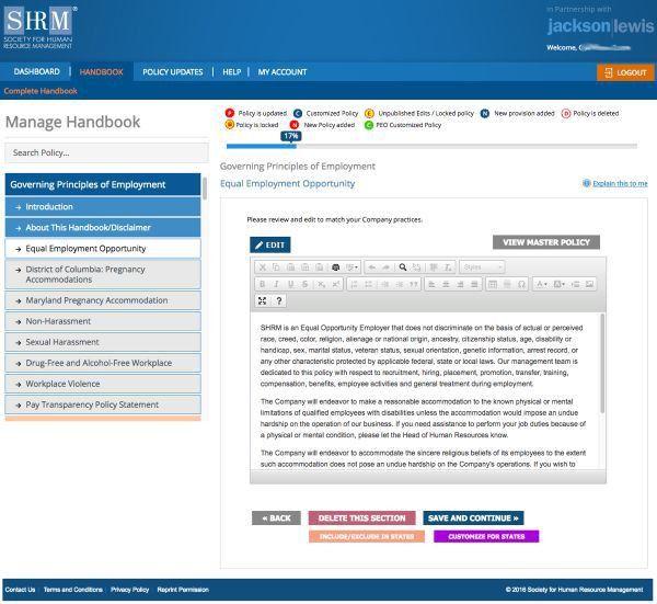 SHRM Employee Handbook Builder   SHRM Store