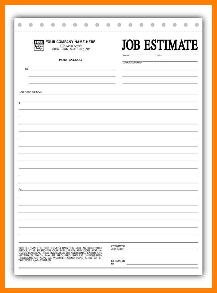 4+ construction estimate form   article examples