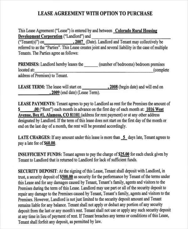 Lease To Buy Agreement Template 43 - cv01.billybullock.us