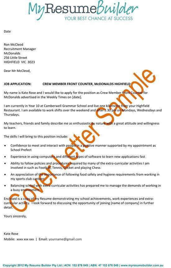 Resume cover letter examples 2012