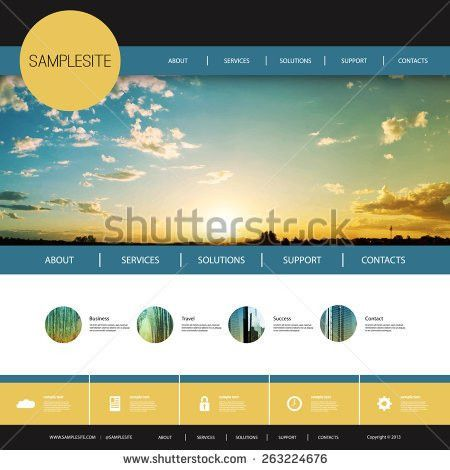 Website Design Template Stock Images, Royalty-Free Images ...