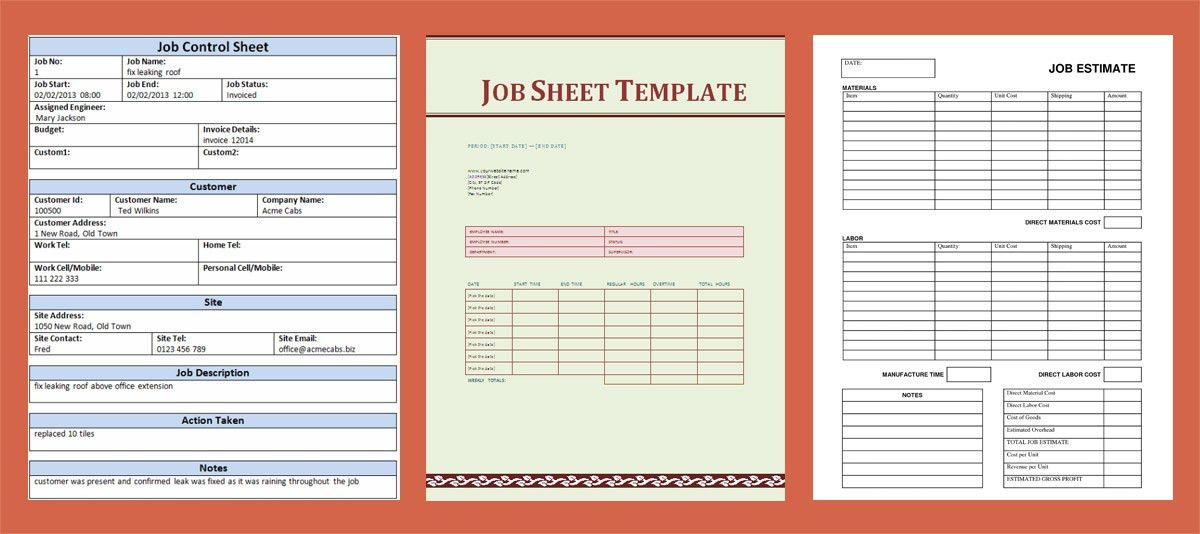 A Simple Guide to Job Sheet Templates (Free Downloads)