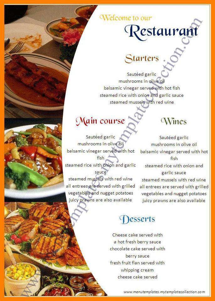 4+ free restaurant menu templates for microsoft word | hostess resume