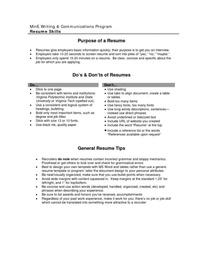 objective section resume