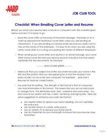 cover letter for email resumes