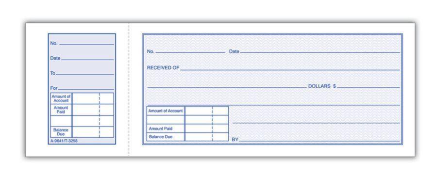 Adams Money Receipt Book 2 34 x 7 1516 1 Part White 50 Receipts ...