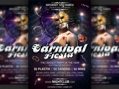 Carnival Fiesta Party Flyer Template by Christos Andronicou - Dribbble
