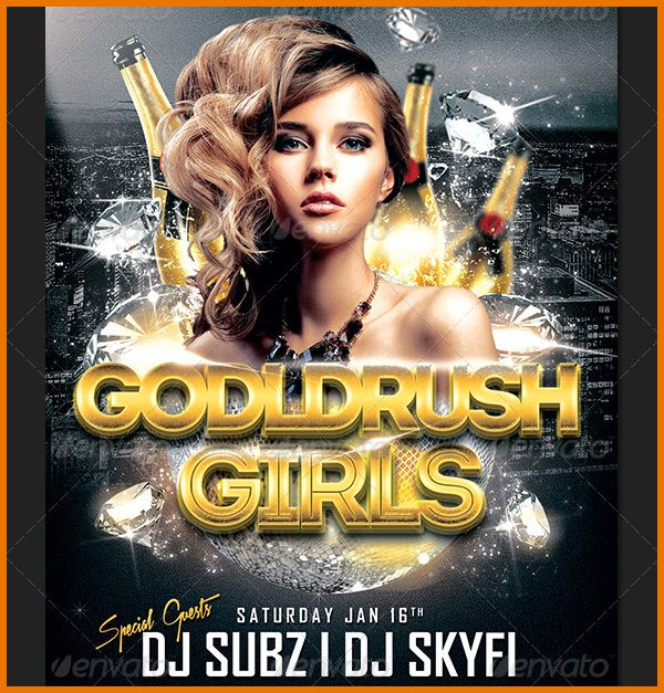Club Flyer Templates.Free Download Goldrush Girls Club Party Flyer ...