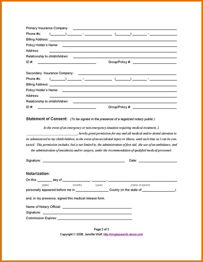 14+ free printable medical forms | plantemplate.info