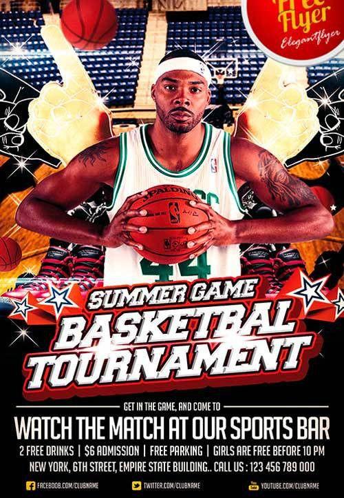 Download Free Basketball Sport PSD Flyer Template