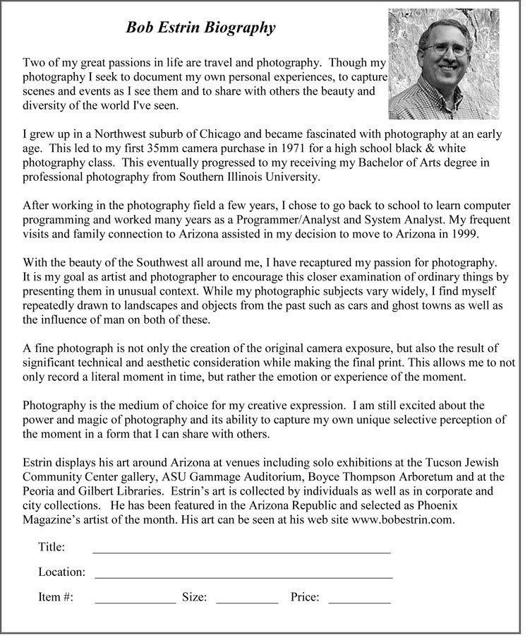 Artist Bio or Artist Statement - My blog