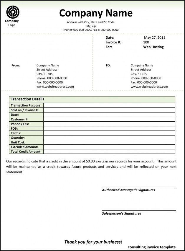 Microsoft Invoice Template Uk   Design Invoice Template