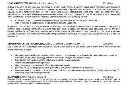 carpenter resume carpenter resume sample sample carpenter ...