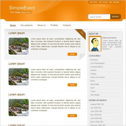 Simple Event Template Free website templates in css, html, js ...