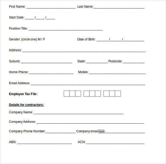 Sample Blank Payroll Form Template - 8+ Free Documents in PDF, Word