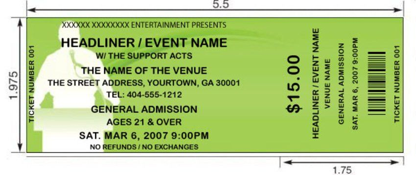 Green Podium Tickets | by FreshTix Ticket Printing
