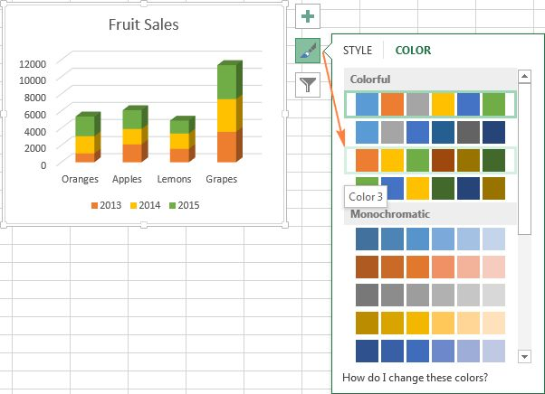 Excel charts: add title, customize chart axis, legend and data labels