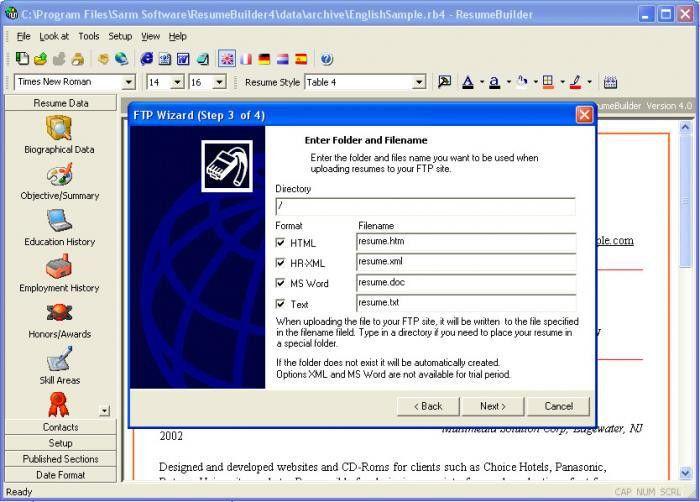 smart resume builder cv free screenshot. pro resume builder resume ...