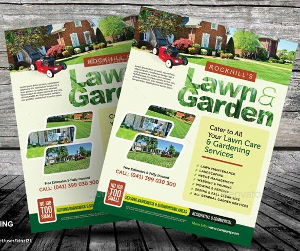 Lawn Care Flyers – 25+ Free PSD, AI, Vector EPS Format Download ...
