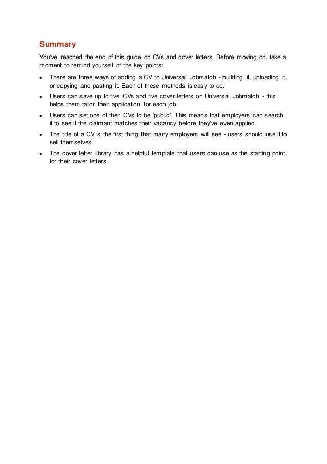 UJ - CVs & Covering Letters