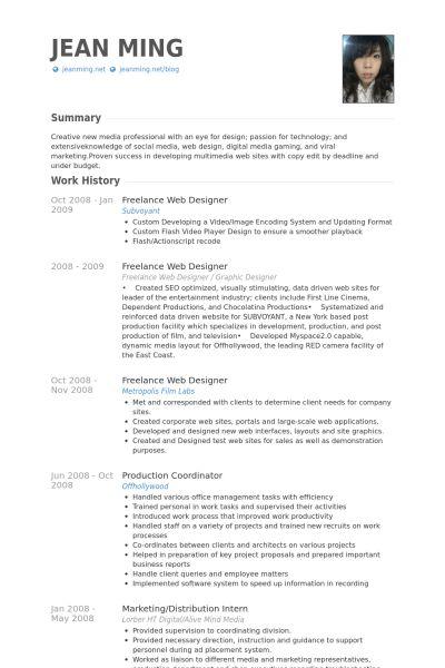 web design resumes web designer cv sample example job description