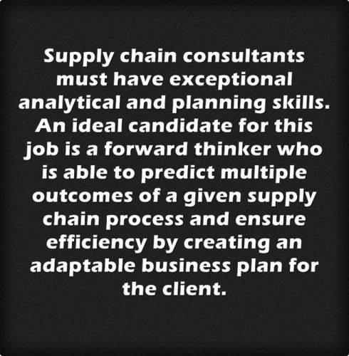 Supply Chain Consultant Job Description - Career Options