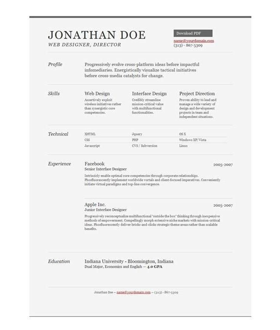 Online Resume Examples - The Letter Sample