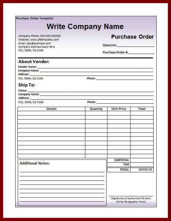 5 Free Purchase Order Templates in Word & Excel | sendletters.info
