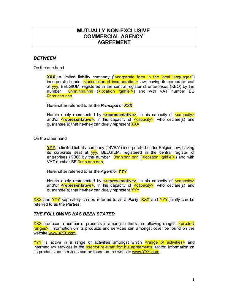 Sales Agent Agreement Template - Contegri.com