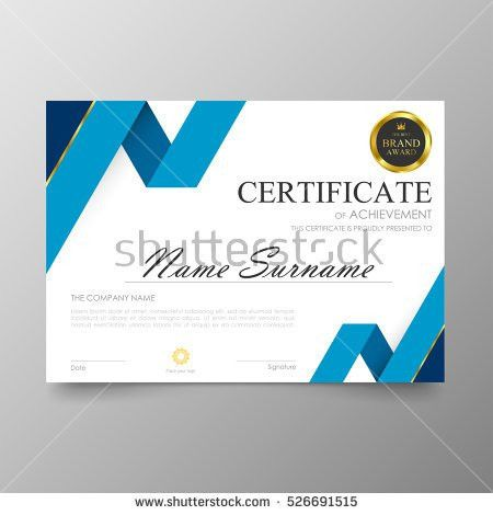 Certificate Template Awards Diploma Background Vector Stock Vector ...