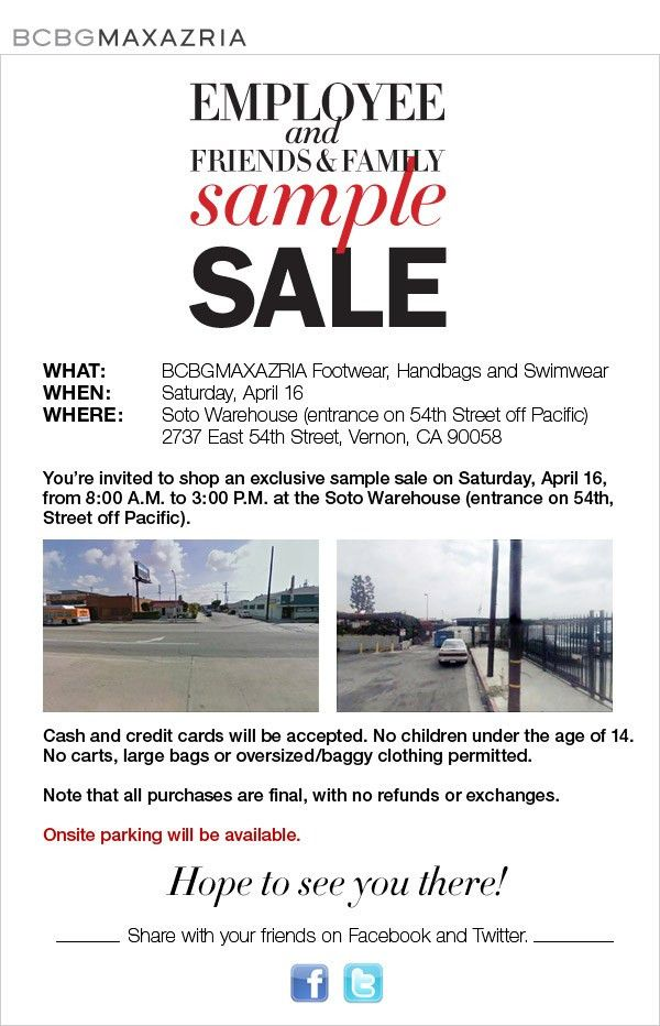 BCBG Sample Sale (4/16/11) – LA, CA - Sassy : Flashy : Classy