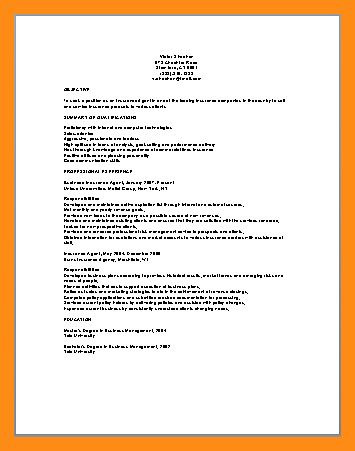 insurance agent resume sample 02052017. sales manager resume ...